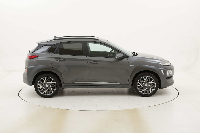 Hyundai Kona XPrime HEV Aut. km 0 ibrido benzina grigia
