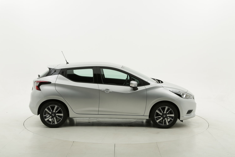Nissan Micra benzina argento a noleggio a lungo termine