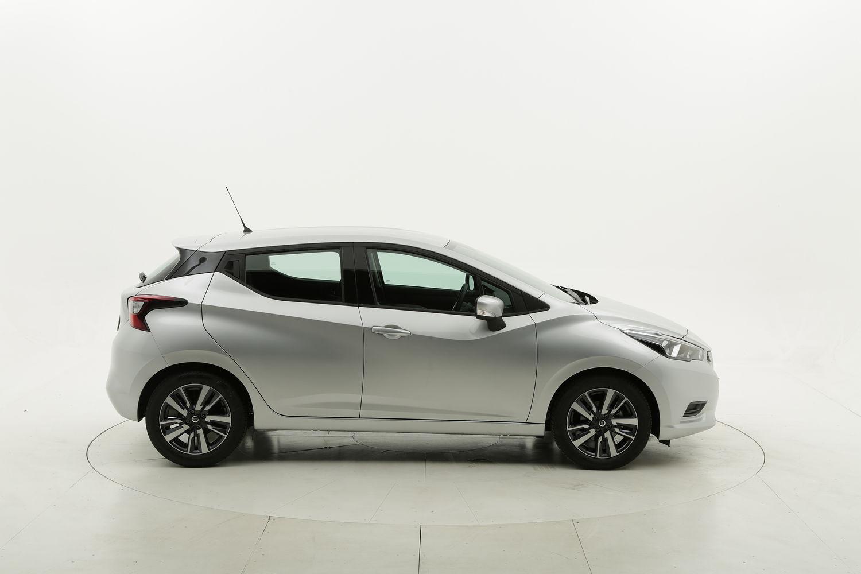 Nissan Micra Acenta gpl argento a noleggio a lungo termine