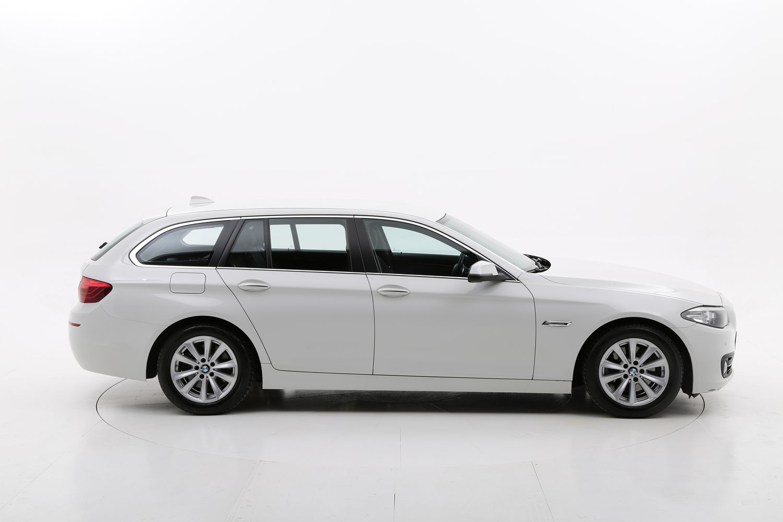 BMW Serie 5 diesel bianca a noleggio a lungo termine