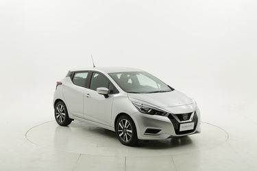 Nissan Micra Acenta benzina argento a noleggio a lungo termine