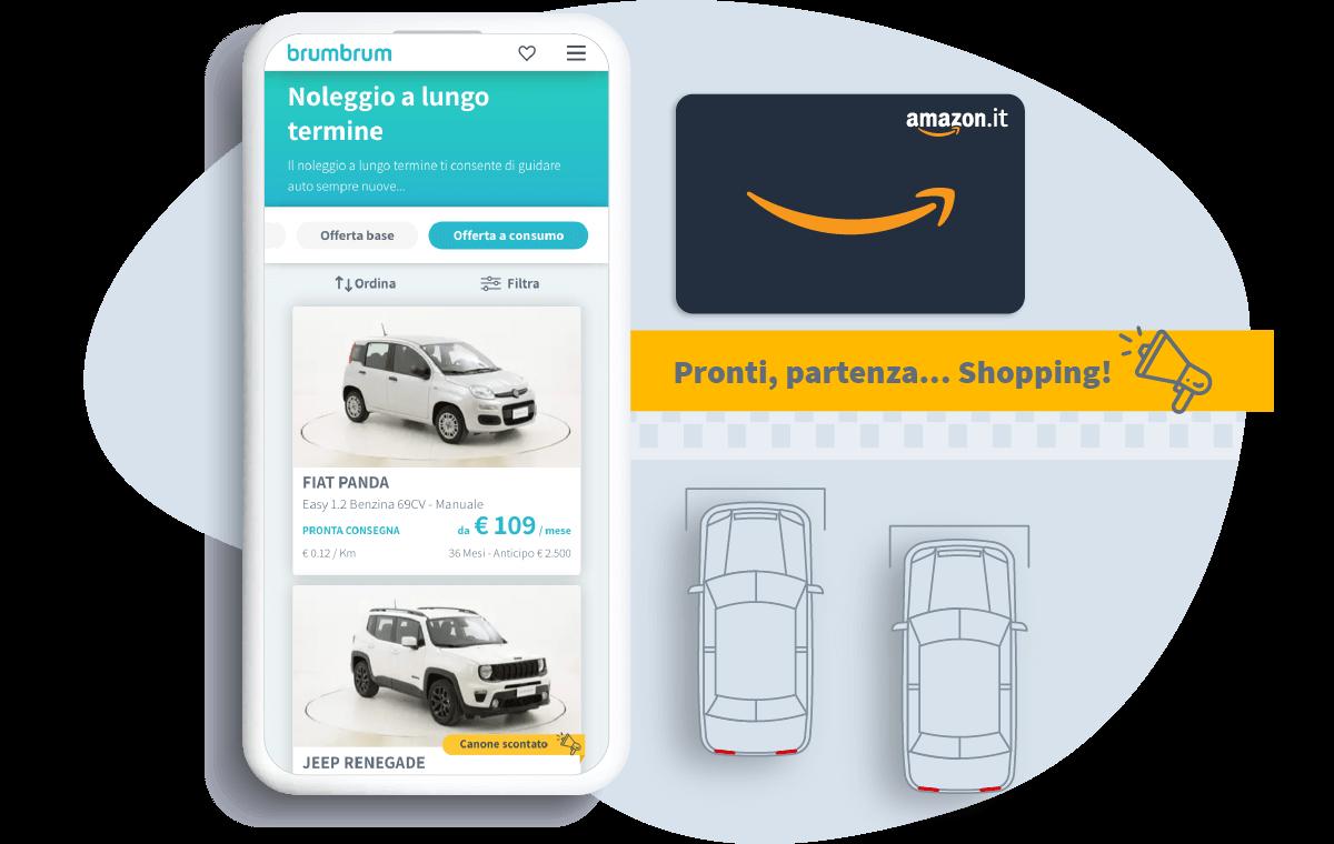Buono Amazon.it da € 500 per noleggio con offerta a consumo
